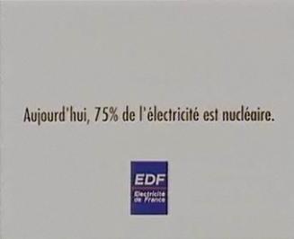Spot publicitaire EDF 1992